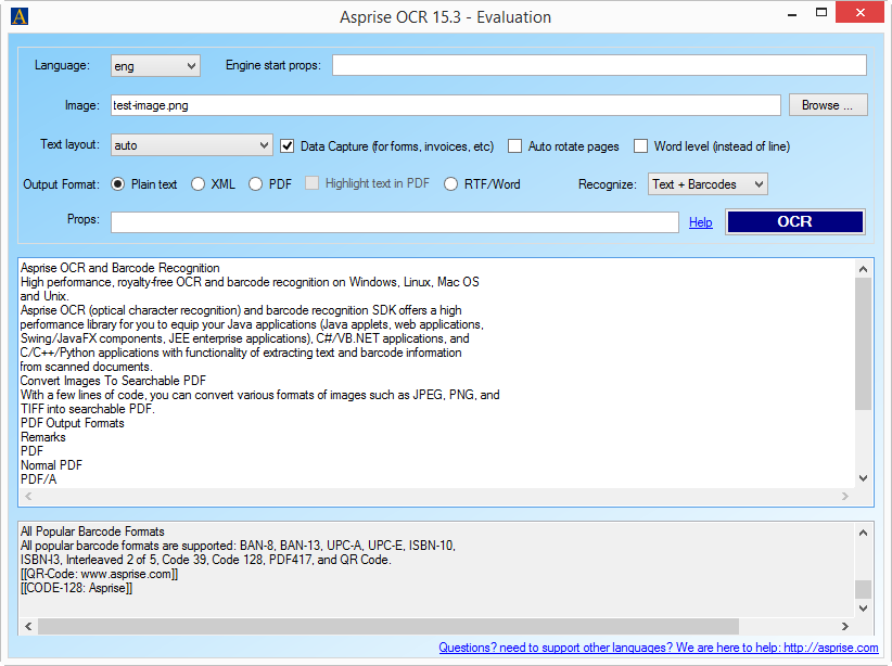 Asprise C# .NET OCR SDK - royalty-free API library with source ...