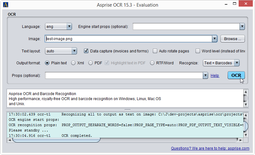 Asprise Java Ocr Sdk Royalty Free Api Library With