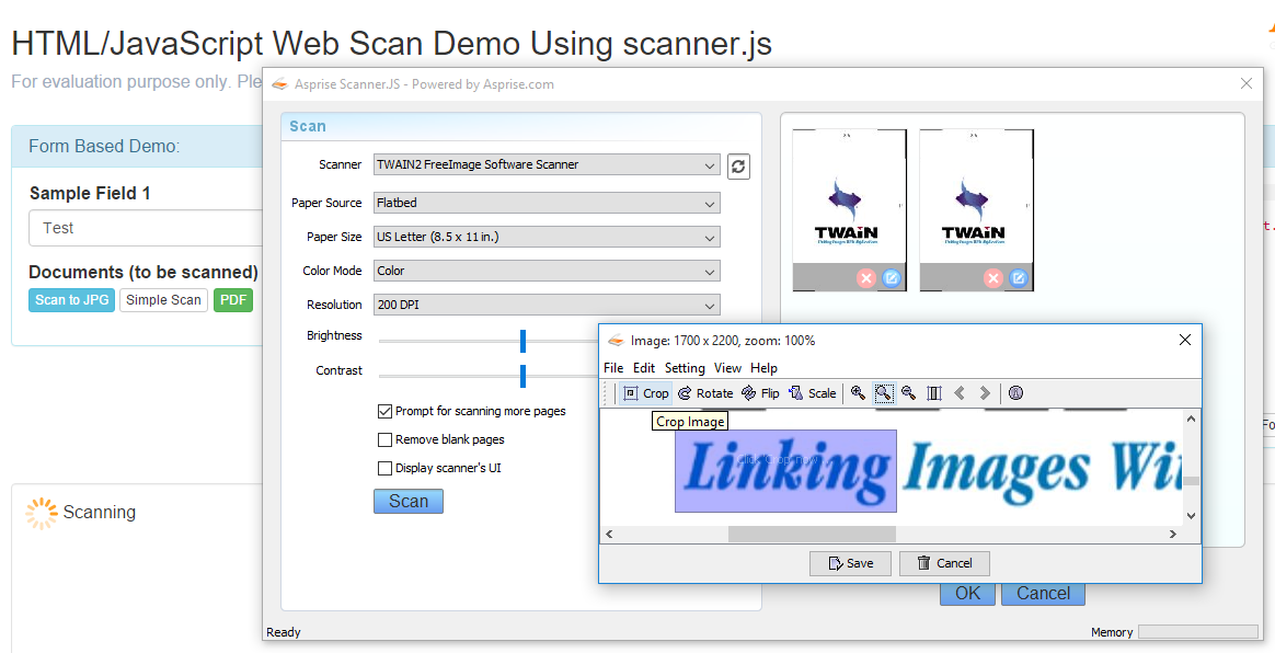 Scanner.js: scan documents from scanners and upload images in browsers